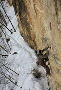 Rock Climbing Photo: Middle crux section.