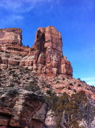 Rock Climbing Photo: The Irishman Temple as seen from the trail.
