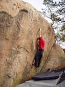 Rock Climbing Photo: Justin Hayes on a prime project...this area should...