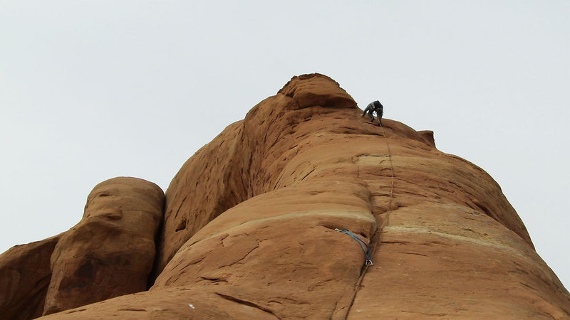 Rock Climbing Photo: Me on pitch 2 (I combined 2 and 3 with a 70m rope)...