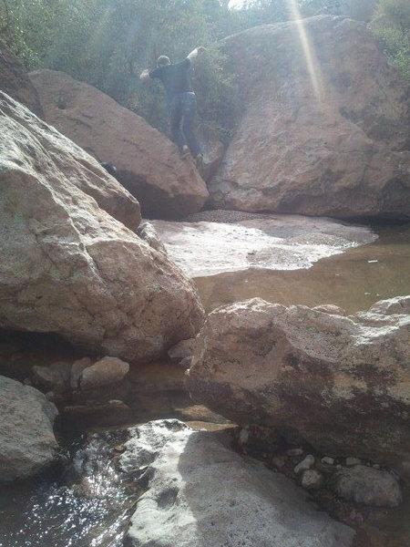 Rock Climbing Photo: old pbc no hands bonus problem