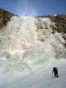 Rock Climbing Photo: Miguel approaches the Bard Harrington in fat condi...