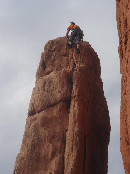 Ross topping out on South Ridge.