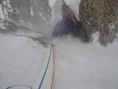Rock Climbing Photo: Experiencing the Brain Freeze at the top of the cr...