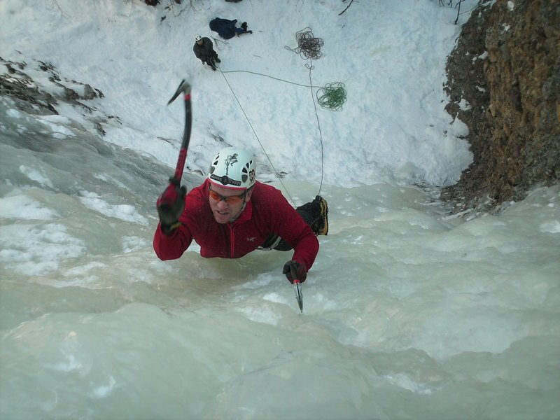Rock Climbing Photo: Warming up on the climb