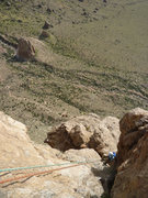 Rock Climbing Photo: View from the top of Spider Walk (Pitch 4), with A...