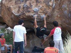 Working the No body @Hueco Tanks