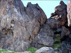 Rock Climbing Photo: Freak Show area. Photo by Blitzo.