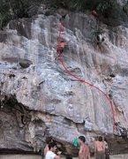 Rock Climbing Photo: Unknown climber on Don Quijote De La Mancha