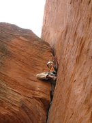 Rock Climbing Photo: Eric on the last pitch