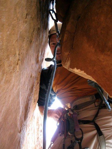 Rock Climbing Photo: Eric starting pitch 3