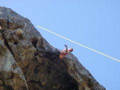 Rock Climbing Photo: Pascal enjoying the Great Roof