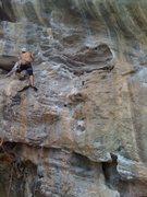 Rock Climbing Photo: Pascal leading Schlingel Max