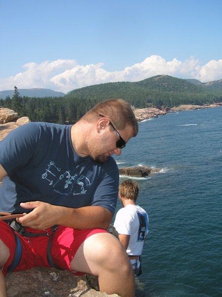 belay for kiethie @otter cliffs