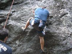 Rock Climbing Photo: hard start