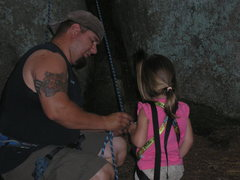 Rock Climbing Photo: ally's first climb with dad