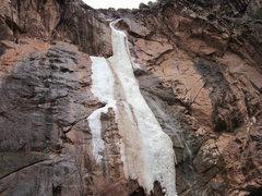 Rock Climbing Photo: Closeup of conditions, 3/7/11.