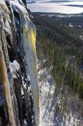 Rock Climbing Photo: Brian Bottan chasing light on Icebreakers. 03/05/1...