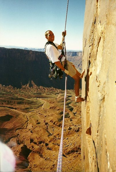 Rock Climbing Photo: Going Down. 1997