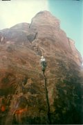 Rock Climbing Photo: 1st pitch. 1996.