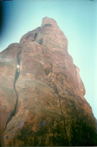 Rock Climbing Photo: The wide part.  1996.