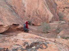 """Rock Climbing Photo: The beginning of the """"walkoff"""" descent."""