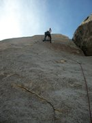 Rock Climbing Photo: Kevin Riley leading Run For Your Life
