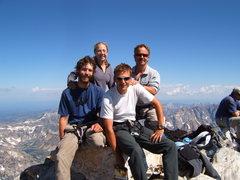 Rock Climbing Photo: Brandi, Bill, Chris, and me.  Grand Teton Summit