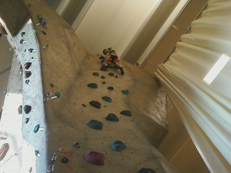 Rock Climbing Photo: London Aguon (age 5) doing laps on all of the auto...