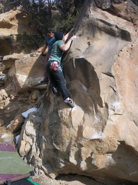 Rock Climbing Photo: sit start,left hand on pinch,right hand on sidepul...