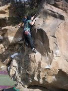 Rock Climbing Photo: sit start,left hand on pinch,right hand on sidepul...