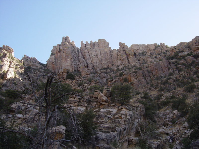 Rock Climbing Photo: The Spires, and their approach.