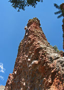 "Rock Climbing Photo: ""On The Arete"" nearing the top of Nine L..."