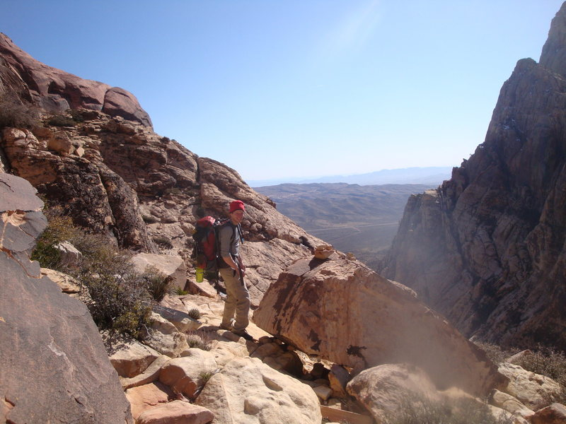 Rock Climbing Photo: On the approach to Levitation 29