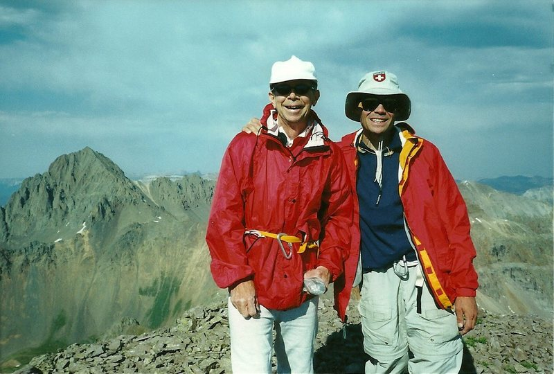 On the summit of Dallas Peak with my dad.  2002.