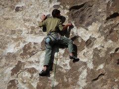 Rock Climbing Photo: Boone leading Tribal Boundary 10b City of Rocks