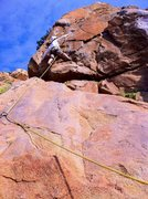 "Rock Climbing Photo: Not sure if this is technically ""on"" or ..."