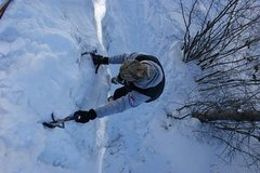 Rock Climbing Photo: A fall from this height would have meant certain d...