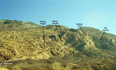 Rock Climbing Photo: Northern Area: The northern areas are best approac...
