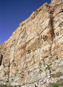 Rock Climbing Photo: Ramp Routes:  These routes are located along the l...