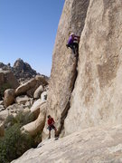 Vogel climbing at the Big Horn Mating Grotto