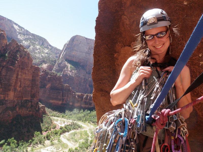 Rock Climbing Photo: Gearing up for Lunar Ecstacy