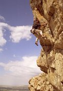"Rock Climbing Photo: Chris Grijalva on his ""project"" (I'm sur..."