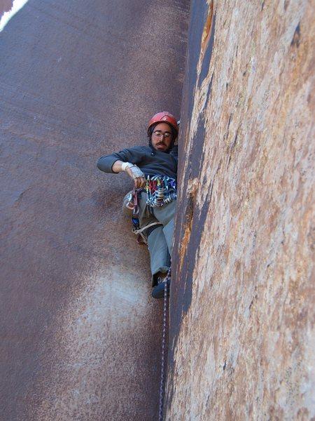 Rock Climbing Photo: Derek at Indian Creek