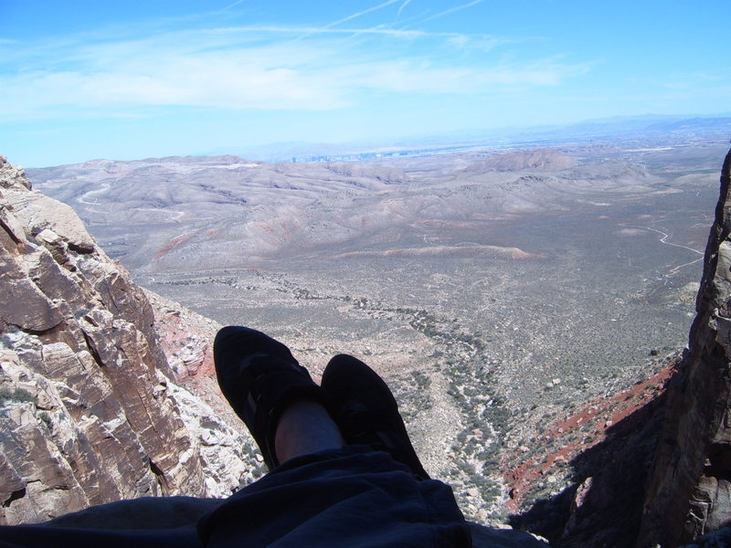 Rock Climbing Photo: on top the Black Tower. Epinephrine 5.9 Red Rock N...