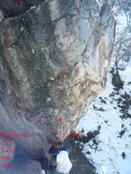 Rock Climbing Photo: boulder #5  problem #1