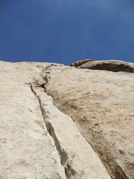 more fun crack after the bolted belay