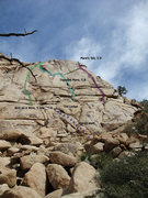 Rock Climbing Photo: selected Lost Horse routes