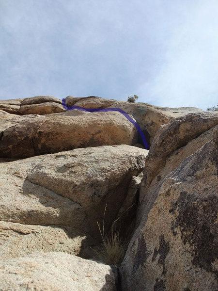 Rock Climbing Photo: first roof