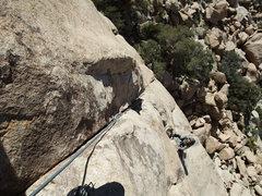 Rock Climbing Photo: Jascha approaching the P2 belay